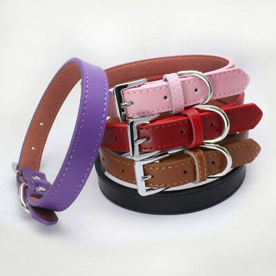 JN_ Small Large Pet Fashion Collar Faux Leather Bucket Cat Dog Neck Strap Pret