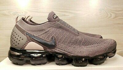 free shipping e5c47 39fa5 Nike Women's Air Vapormax Flyknit Moc 2 Gunsmoke Grey Black AJ6599-003 Pick  Size