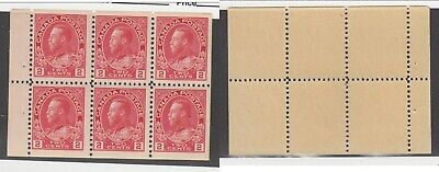 MNH Canada 2c KGV Admiral Booklet Pane #106a (Lot #14947)