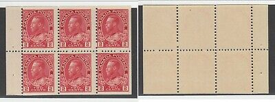 MNH Canada 2c KGV Admiral Booklet Pane #106a (Lot #14948)