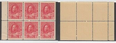 MNH Canada 2c KGV Admiral Booklet Pane #106a (Lot #14943)