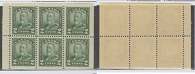MNH Canada 2c KGV Scroll Booklet Pane #150a (Lot #14959)
