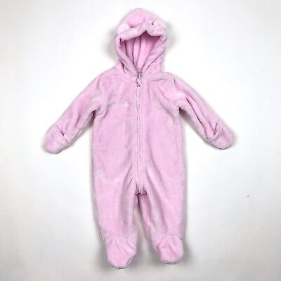 8b050bb73 First Impressions Snowsuit Macys Baby Girl Outfit Pink Size 3-6 Months Faux  Fur