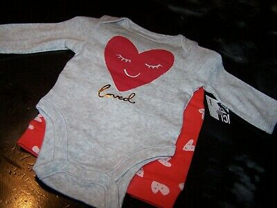 Baby Girl 6-12 Mo~Hearts 2 Pc.Set~Bodysuit & Pant~(Loved)~Old Navy~NWCOT~GR612