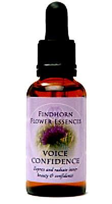 VOICE CONFIDENCE - Enhances Great Singing & Performance - Findhorn Essences 30ml