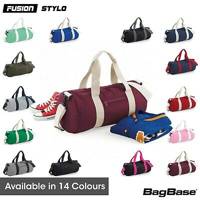 Bagbase Varsity Barrel Bag (Bg140) 20L College School Gym Dance - 14 Colours