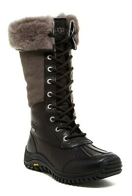 c0c92de0350 UGG WOMEN'S ADIRONDACK Tall Waterproof Sheepskin Winter Snow Boots Black  Size 10