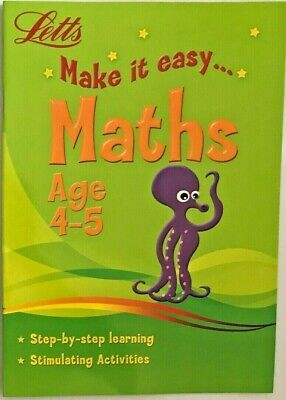 Letts Make it Easy English & Maths Ages 4-5 yrs (set of 2 workbooks) NEW!!!!