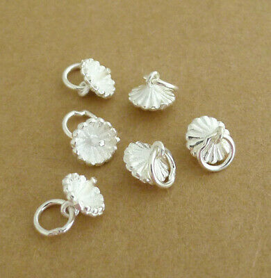 Solid 925 Sterling Silver Cup Peg Ring Pacifier Pendant Pearl Bead Holders Bails