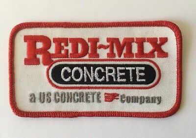 CRETEX EMBROIDERED SEW On Only Patch Concrete Company Advertising