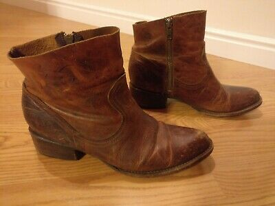 eaa2ef1bcae FREEBIRD BY STEVEN Brown Ankle Boots Shoes Leather Women's size 8 M Steve  Madden