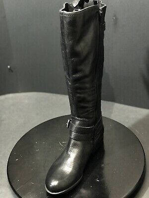 ed449bbab843 New Naturalizer N5 Comfort Black Leather Jovana Womens Riding Boots Size US  7 M