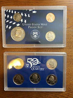 1999-S U.S.A. MINT 9-PROOF COIN SET~Uncirculated~State Quarters~Kennedy Half OGP