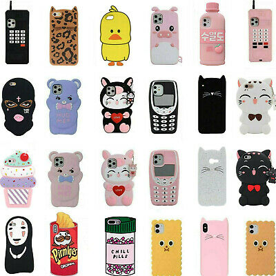 For iPhone 11 Pro Max 8 7 6+ 5 3D Cartoon Unicorn Soft Silicone Phone Case Cover