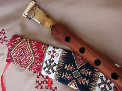 Armenian Pro Duduk in Fabric Ornament Case Handmade from Apricot Wood in Key A