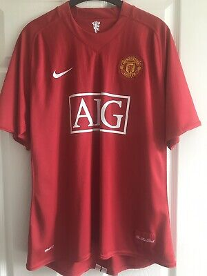 Manchester United FC 2007-2009 Home Shirt Large Official Excellent Condition