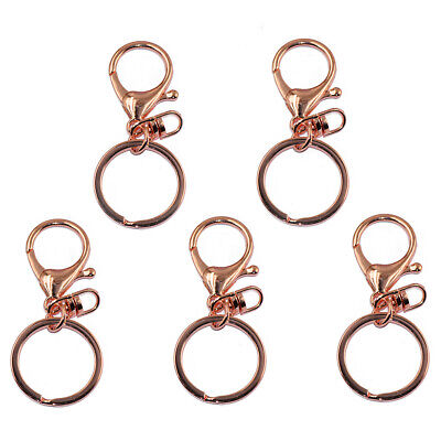 Prettyia Tone Lobster Trigger Swivel Clasps Split For Keyring Hook Fob Ring