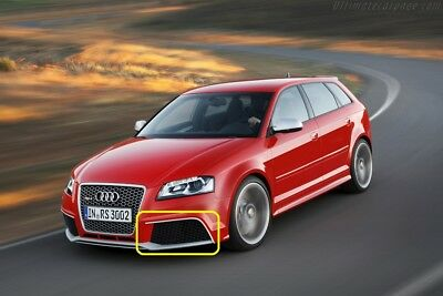 New Genuine AUDI RS3 11-13 Left Air Guide Grille Black Gloss 8P0807681AJT94 OEM