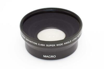 Front lens wide angle black 0.45x Ø 55mm for camera