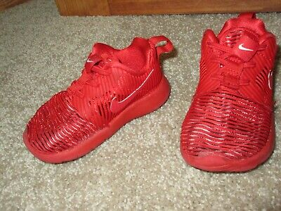 d4583fcd3574 BABY BOYS Nike Roshe One Flight Weight Shoes red 5c