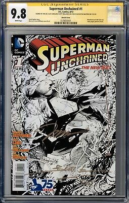 Superman Unchained #1 CGC 9.8 1:300 Lee Sketch Variant 4X Signature Series