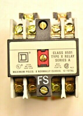 Square D Relay Contactor Class 8501 type X  24v 60hz Series A.