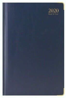 Navy Tallon 2019 Embossed Date Cover Slimline Week to View Diary