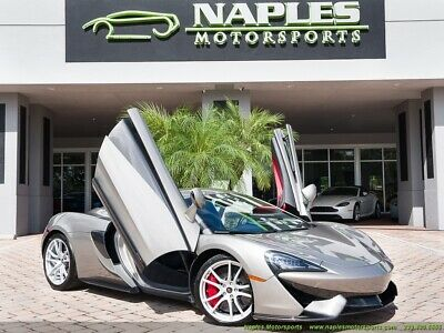 2017 570 S Blade Silver Jet Black Nappa Leather Apex Red Inserts Luxury Pkg Lots of Carbon