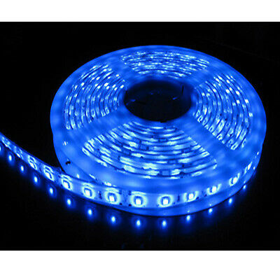 5M Single Colour Flexible LED 3528 SMD Lights STRIP IP65 WATERPROOF in BLUE - UK