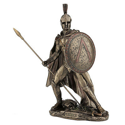 Leonidas with spear and shield King of Sparta Warrior Statue Sculpture figurine