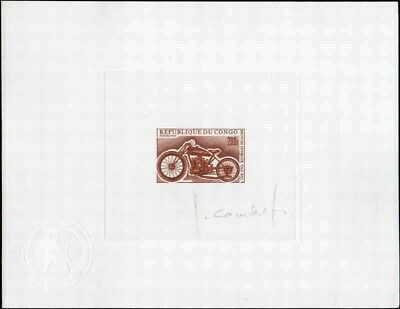 CONGO #189 Motorcycle. Old Bill. Artist Die Proof. Signed. Very Fine! Rare!!!