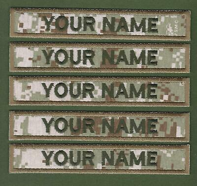 """5 X Camouflage Name Tapes Military Name Strips Army Name Tags """"We Make Any Size"""""""