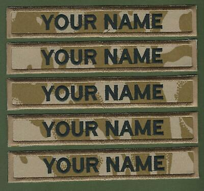 """5 X Camouflage Name Tapes Military Name Strips Name Tags """"We Make Any Size"""""""
