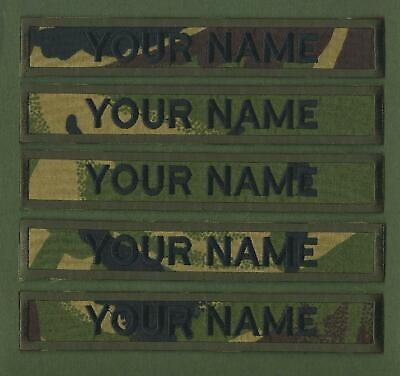"""Camouflage Name Tapes x 5 Military Name Strips Army Name Tags """"We Make Any Size"""""""