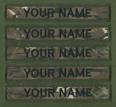 """Camouflage Name Tapes Military Name Strips x 5 Army Name Tags """"We Make Any Size"""""""