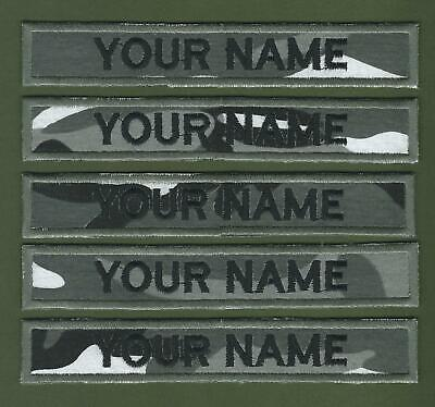 """Camouflage Name Tapes Military Name Strips Army Name Tags x 5 """"We Make Any Size"""""""