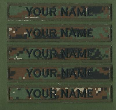 5 X Camouflage Name Tapes Military Name Strips Name Tags      We Make Any Size