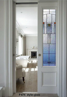 Pocket Doors with Stained Glass panels