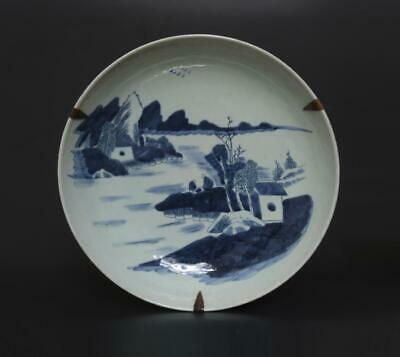 Superb Eastern Antique Chinese Porcelain Blue and White Dish-28.5cm
