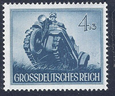 Nazi Germany Third Reich 1944 Nazi  Soldiers Track Cycle 4+3 Stamp MNH WW2 ERA