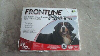 Frontline Plus for DOGS 89-132lbs (3 Doses)
