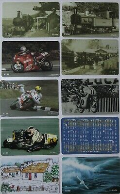 Manx Telecom Phonecards Lot of 10 Different Cards Priced to Sell
