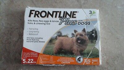 Frontline Plus for Dogs 3 Dose 5-22lbs Fast shipping