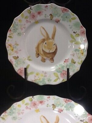 222fifth Sydney  Bunny Easter 4 New Salad Plates