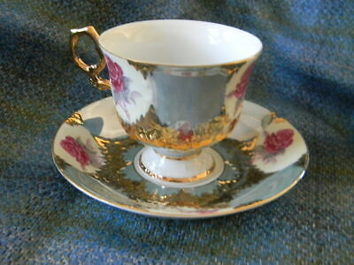 Vintage Shafford Japan Hand Painted  Cup & Saucer