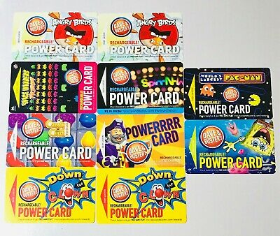 Dave and Busters Power Cards (11) 936.4 CHIPS & 1308 TICKETS $150 Preloaded Pac