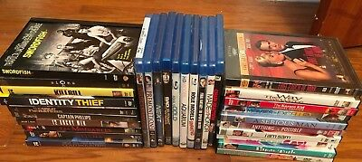 Lot of 30 Blu-ray and DVDs Used And New Comedy Romance Suspence Family Aquarium