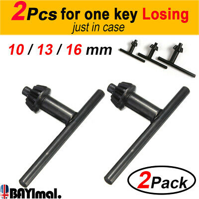 2pcs Drill Chuck Key Replacement Hand Drilling Tools Accessories 10mm 13mm 16mm