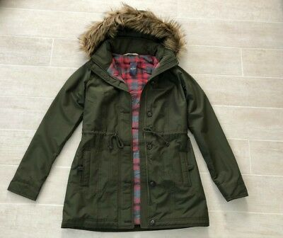 c7753a79e4da2 New Hollister Abercrombie & Fitch Women Whispering Sands Parka Jacket- Olive  - S