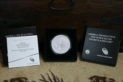 2015 P SARATOGA National Historical Park 5oz Silver Coin SN5 ORIGINAL OWNER